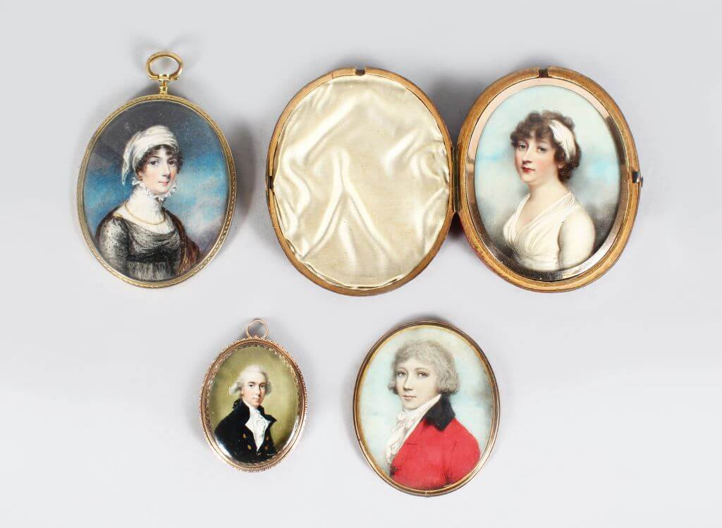 Four Miniatures by John Donaldson, Andrew Plimer and Others/Fine Auctioneers and Valuers