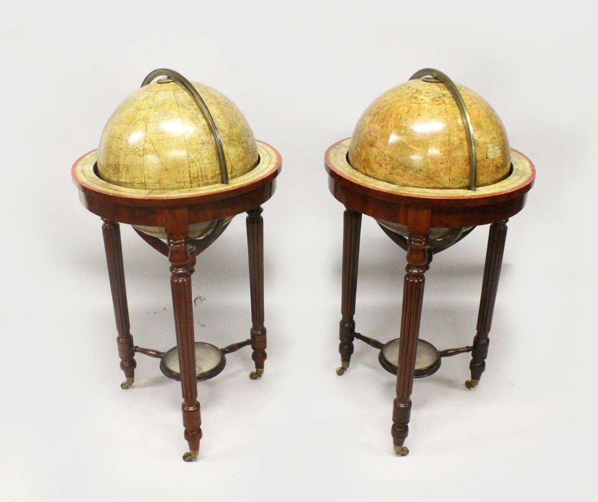 A Very Good Pair of Eighteen Inch Malby & Sons Terrestrial and Celestial Globes/Fine Auctioneers & Valuers