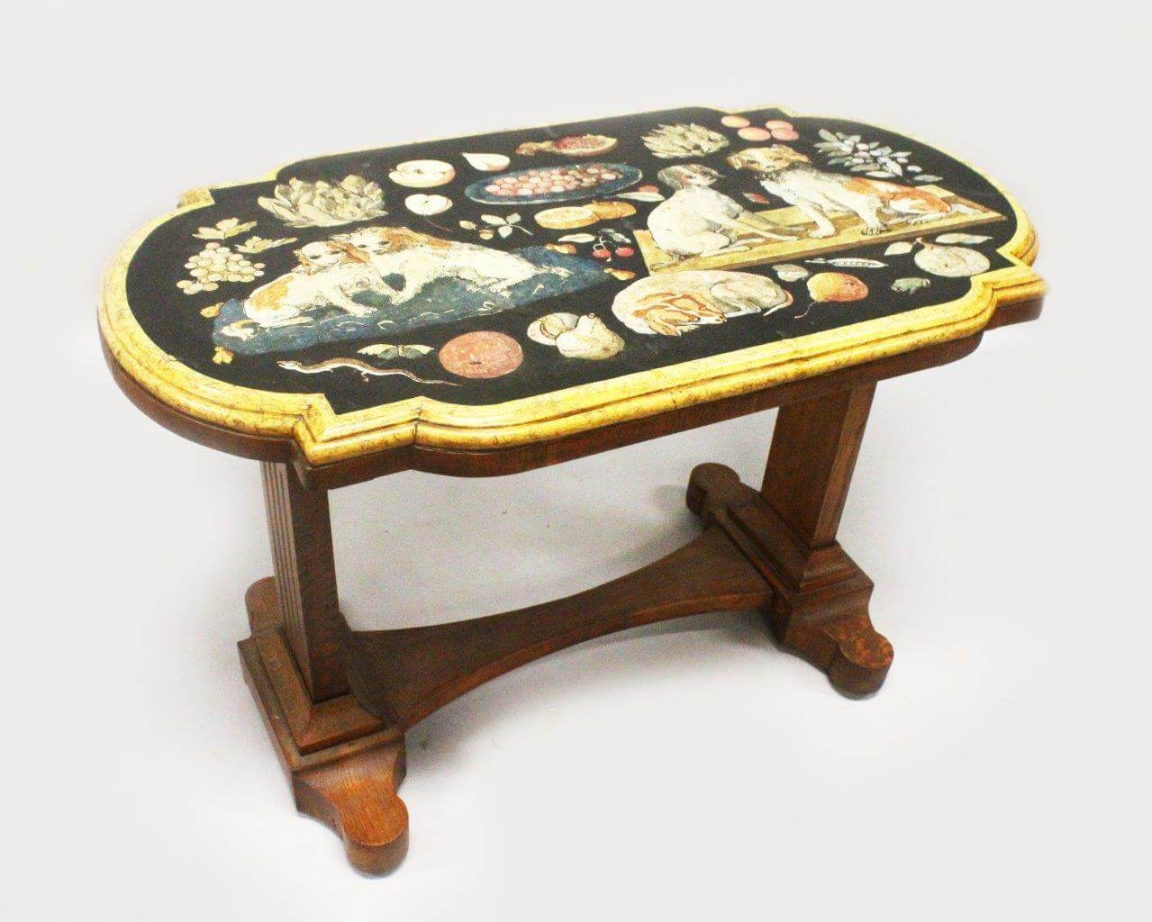 A Rare Early 19th Century Italian Scagliola Marble Top Table /Fine Auctioneers & Valuers