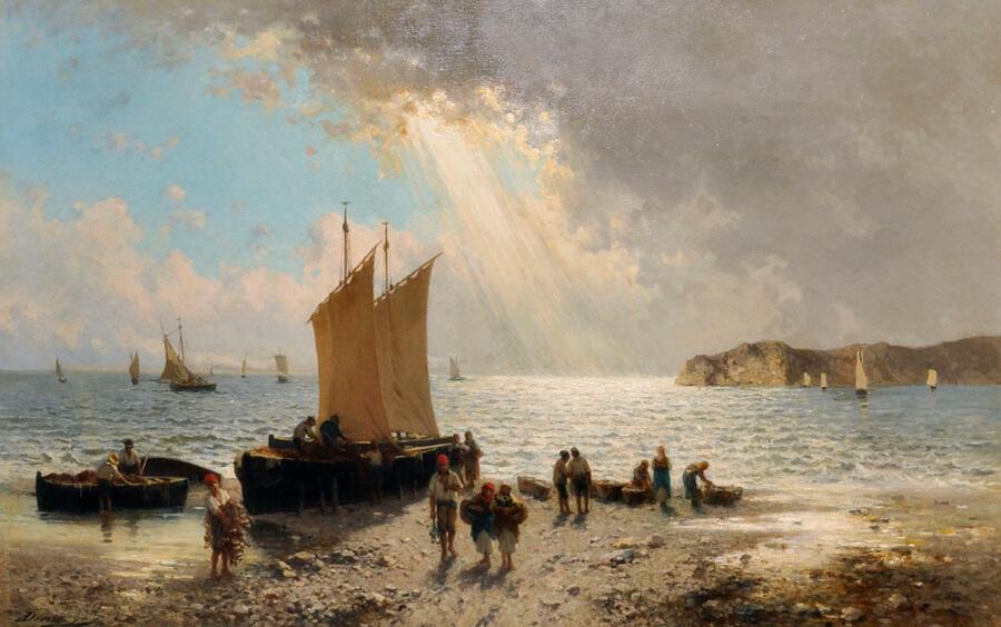 Achille Dovera (1838-1895) italian/Auctioneers and Valuers