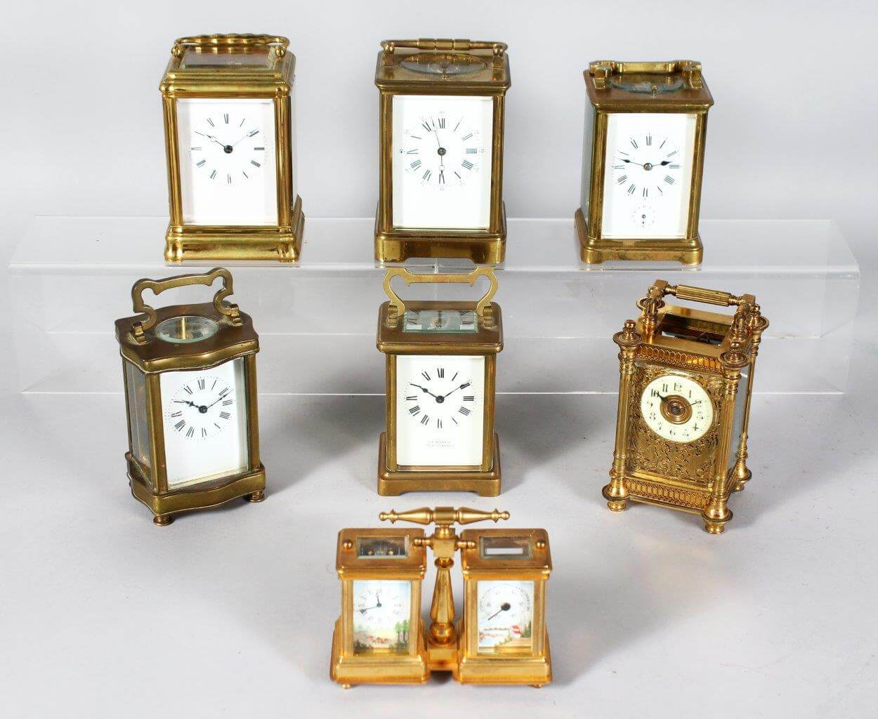A Superb Collection of Carriage Clocks./Auctioneers and Valuers