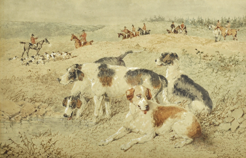 John Frederick Herring (1815-1907) British. A Hunting Scene, Watercolour/Auctioneers and Valuers