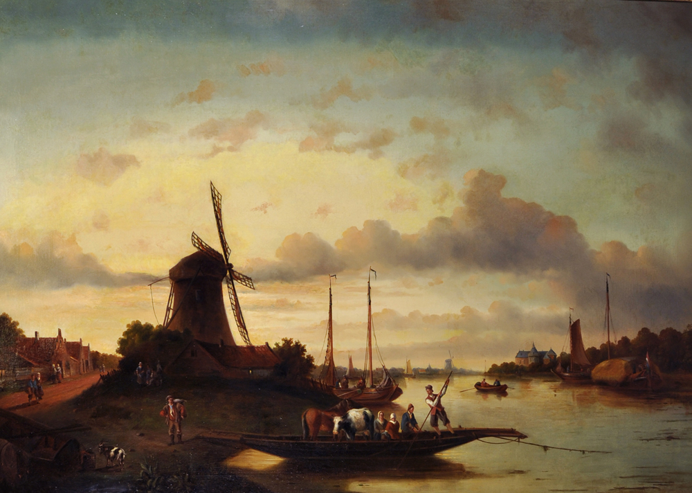 Jacob Jan Coenraad Spohler (1837-1922) Dutch./Auctioneers and Valuers