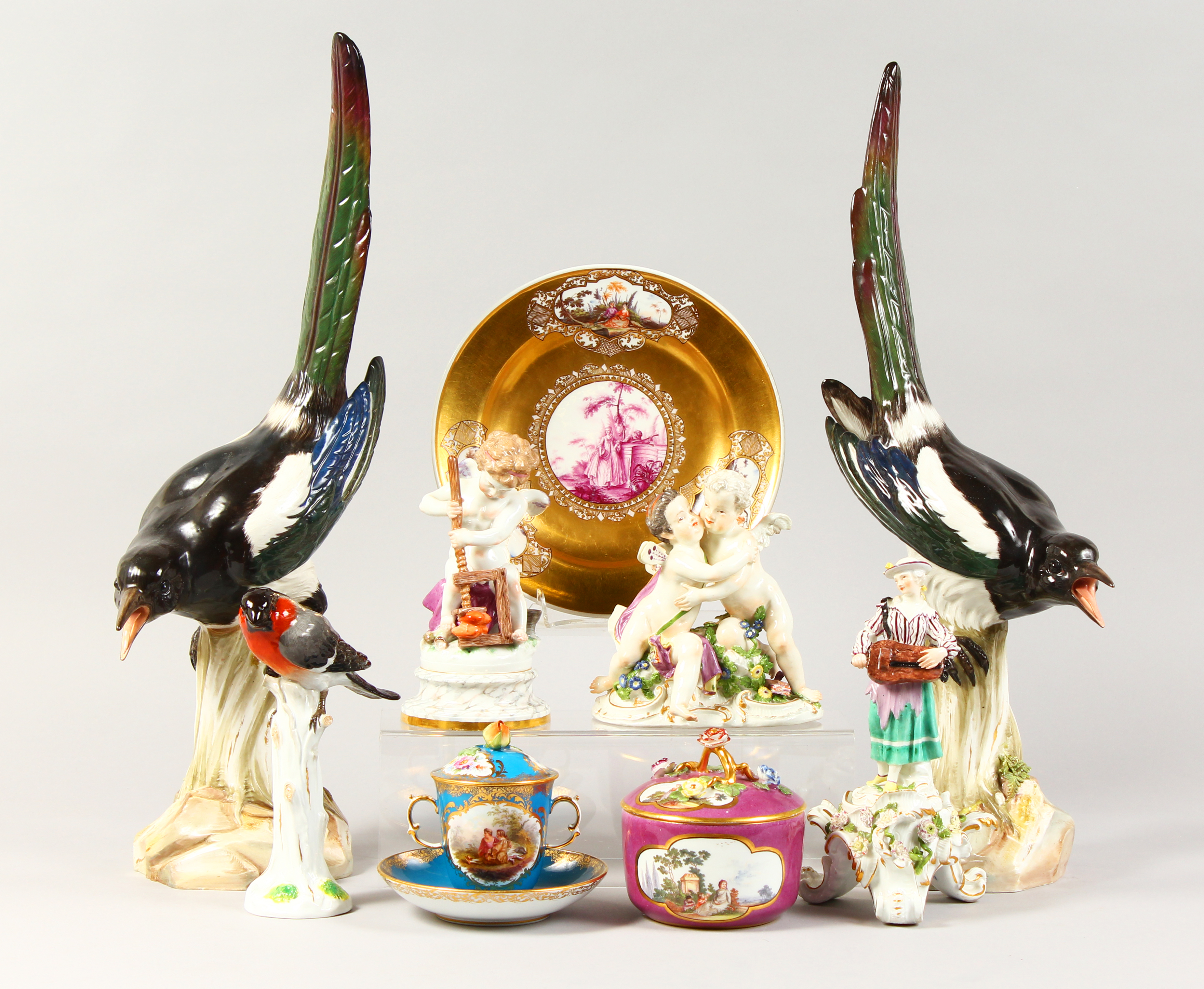 Part of a gentleman's collection of 18th-19th century Meissen porcelain./Auctioneers and Valuers