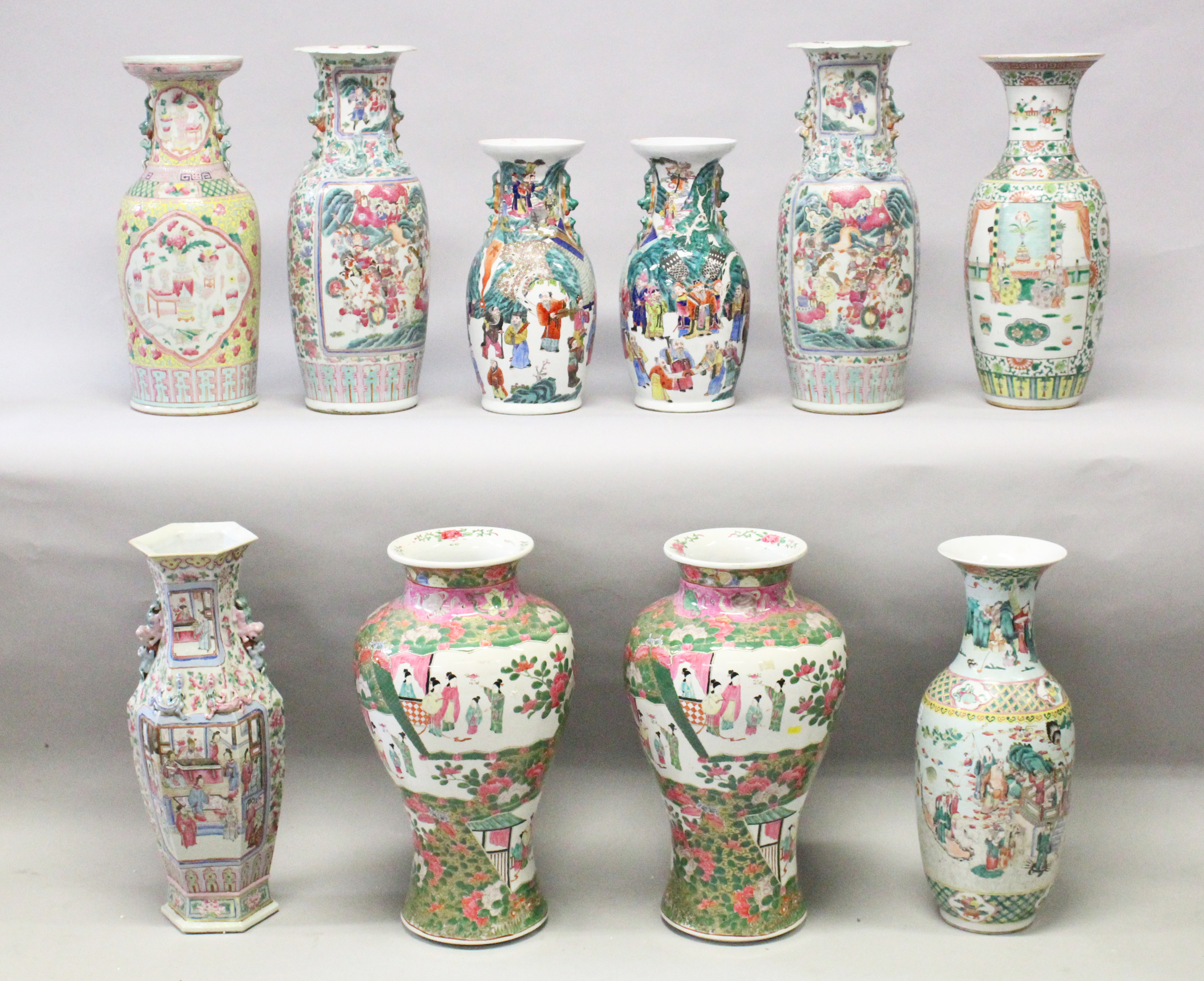 Part of a Collection of Chinese and Japanese Porcelain Vases/Auctioneers and Valuers