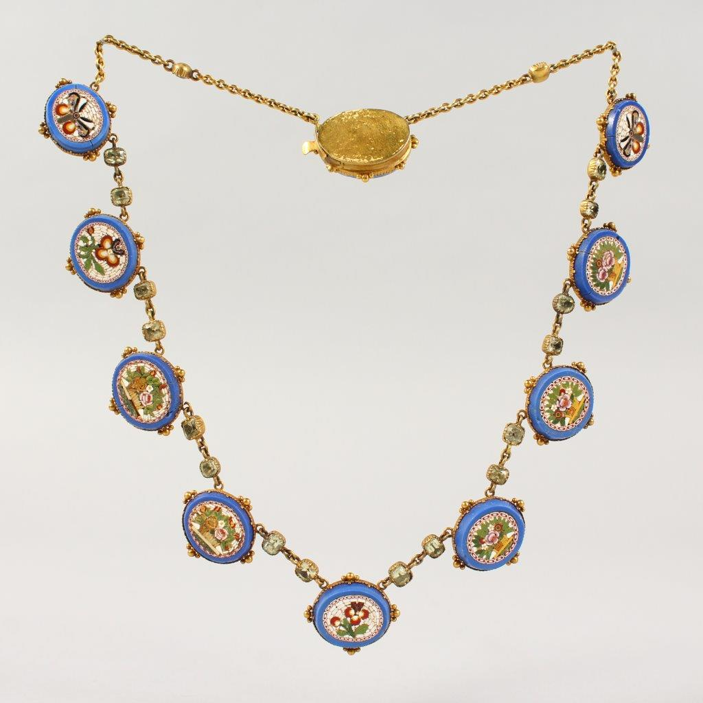 A micro Mosaic necklace. Fine Antique 22 November./Auctioneers and Valuers
