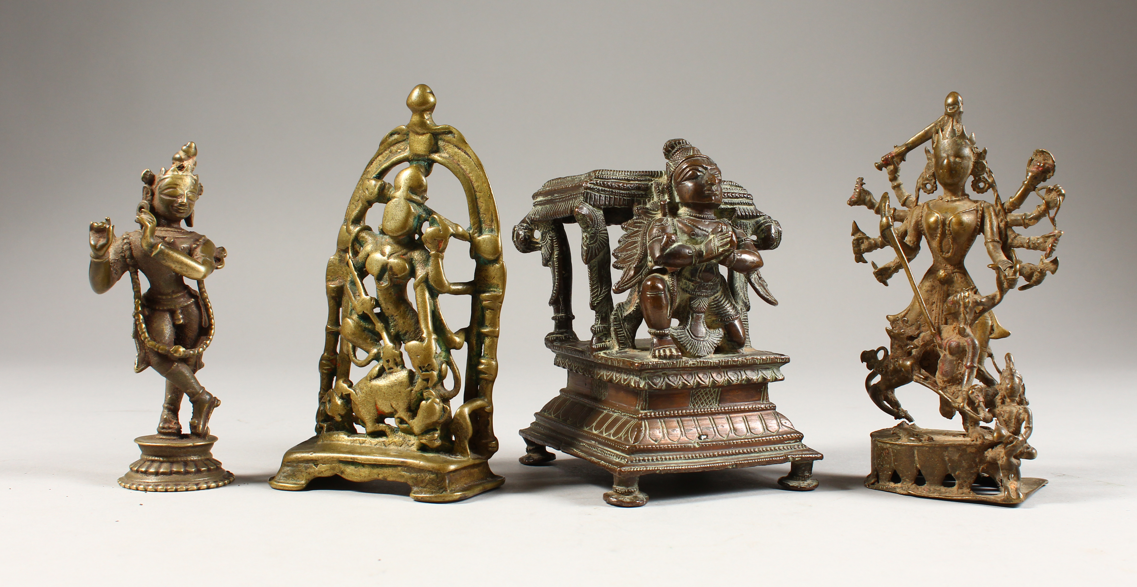 Four Hindu bronze images, India, 16th-19th centuries/Auctioneers and Valuers