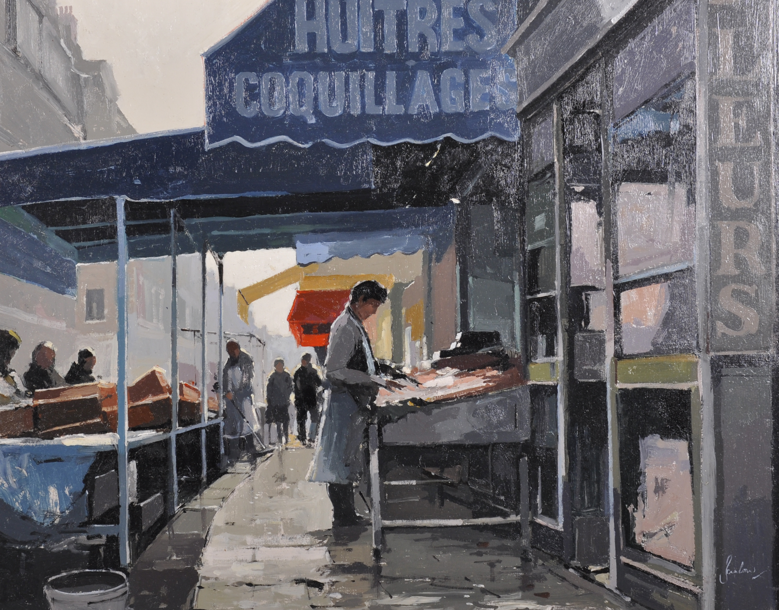 """Jeremy Barlow (1945- ) British. """"Huitres, Coquillages""""/Auctioneers and Valuers"""