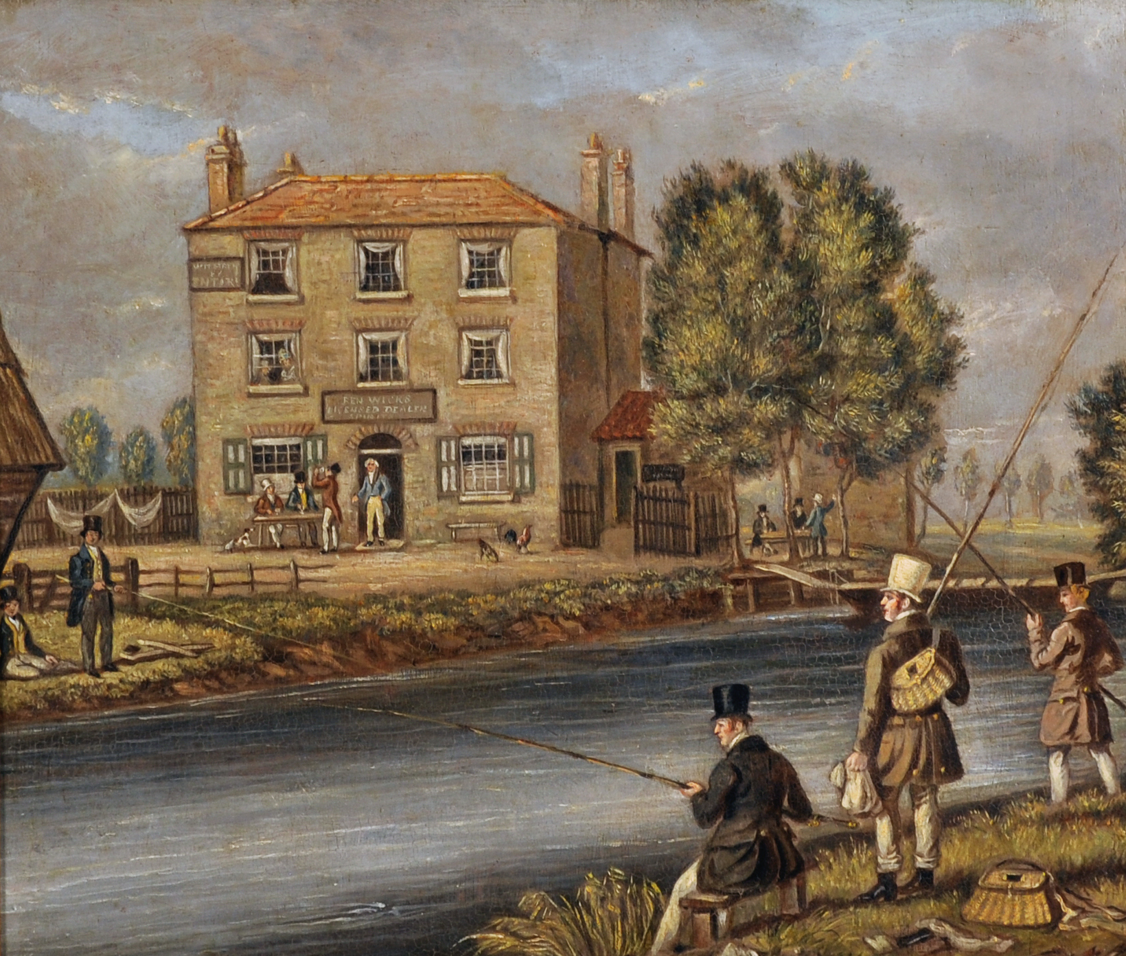 "James Pollard (1792-1867) British. ""Ben Wicks, Licensed Dealer Spirits/Auctioneers and Valuers"