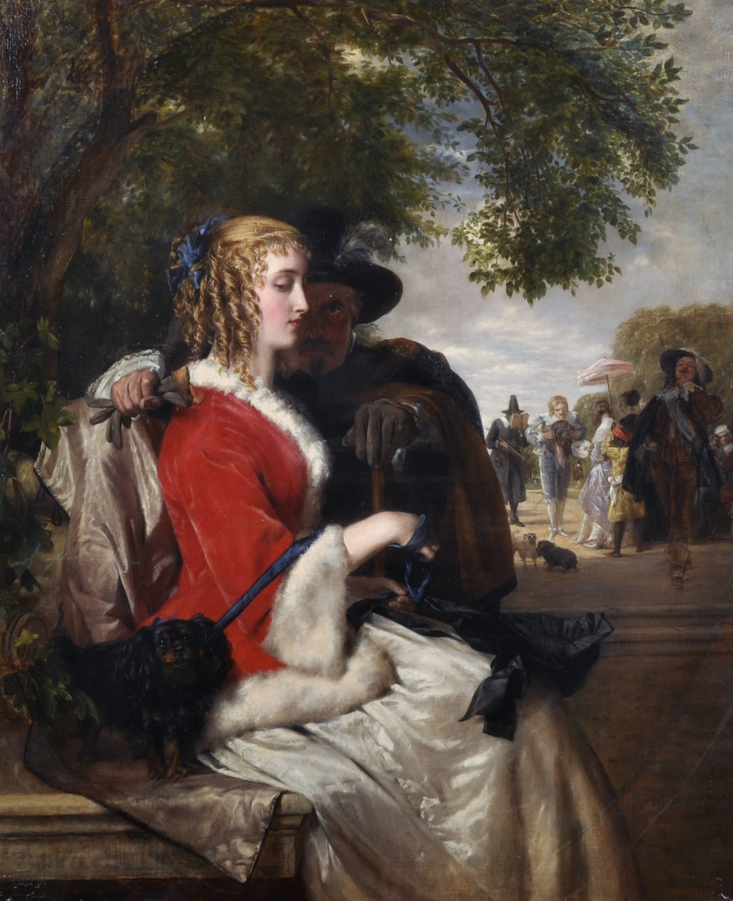 """John Calcott Horsley (1817-1903) British. """"A Jealous Eye"""", Oil on Canvas/Auctioneers and Valuers"""